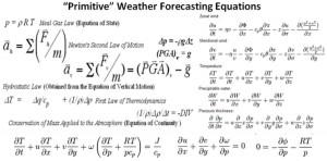 早期的大气气象预报和预测方程