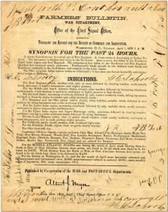 作战部1897年发布的天气预报