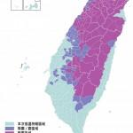 1月24日台湾地区固态降水范围